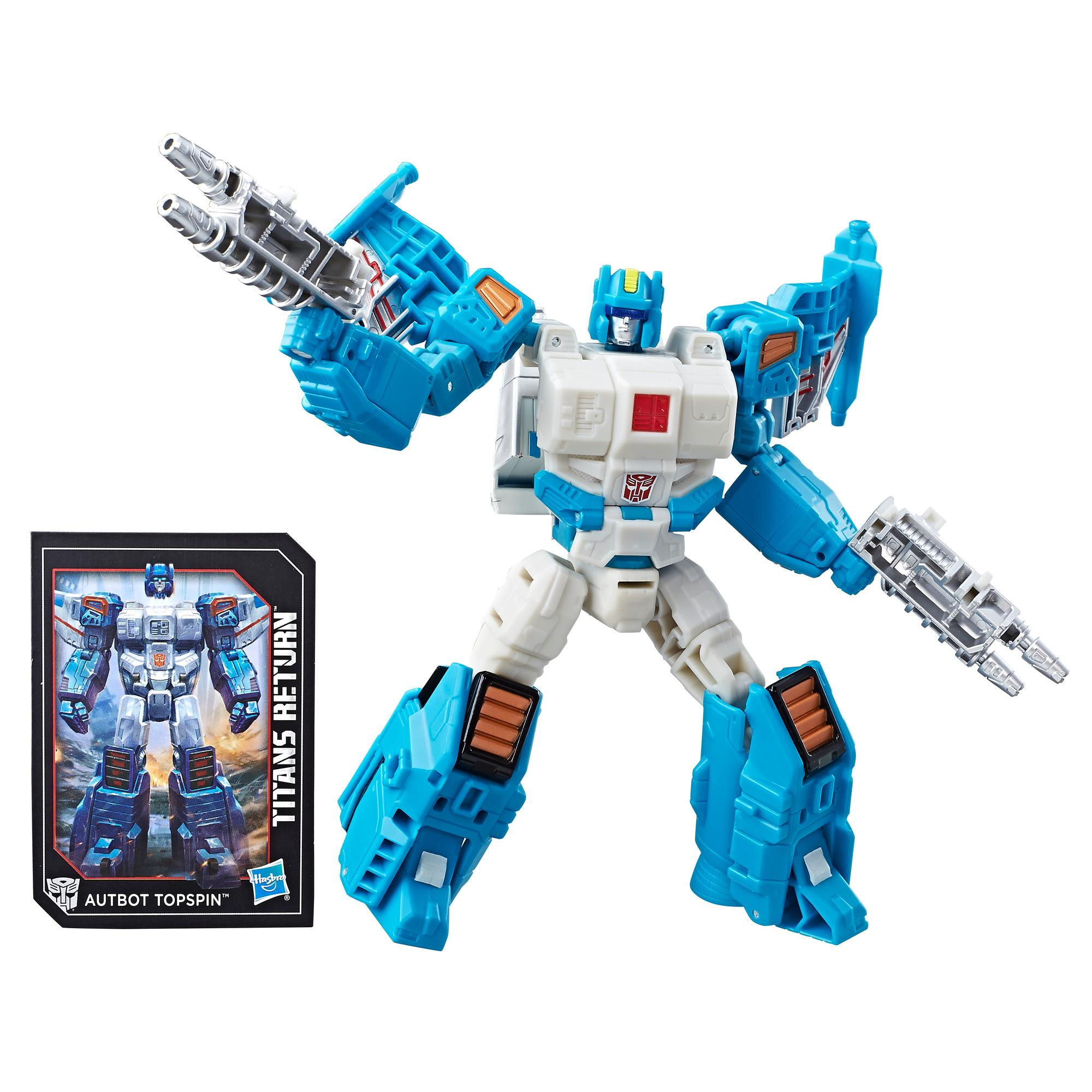 Transformers Generations Titans Return Autobot Topspin e Freezeout