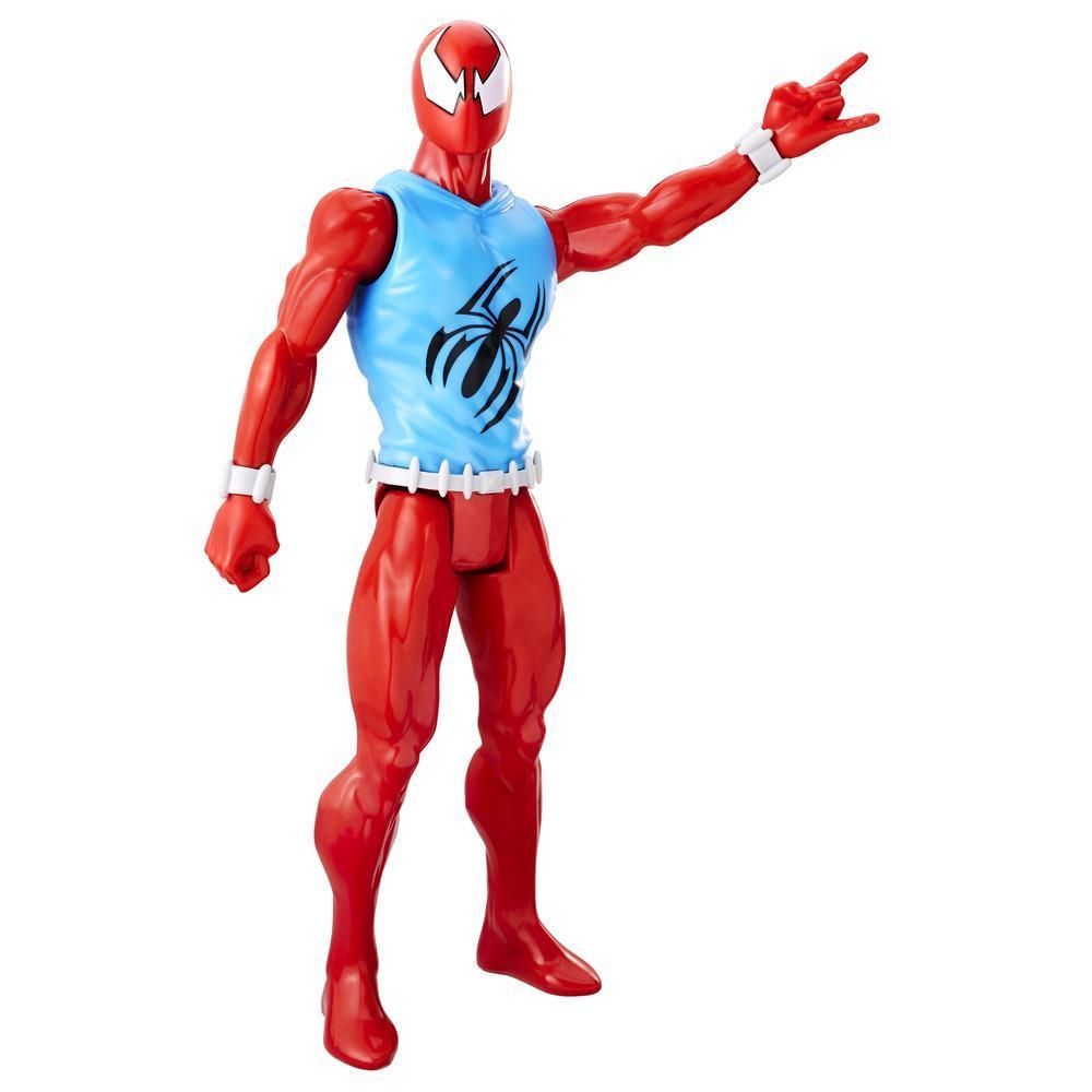 Boneco Spiderman Titan Web Warriors Aranha Escarlate