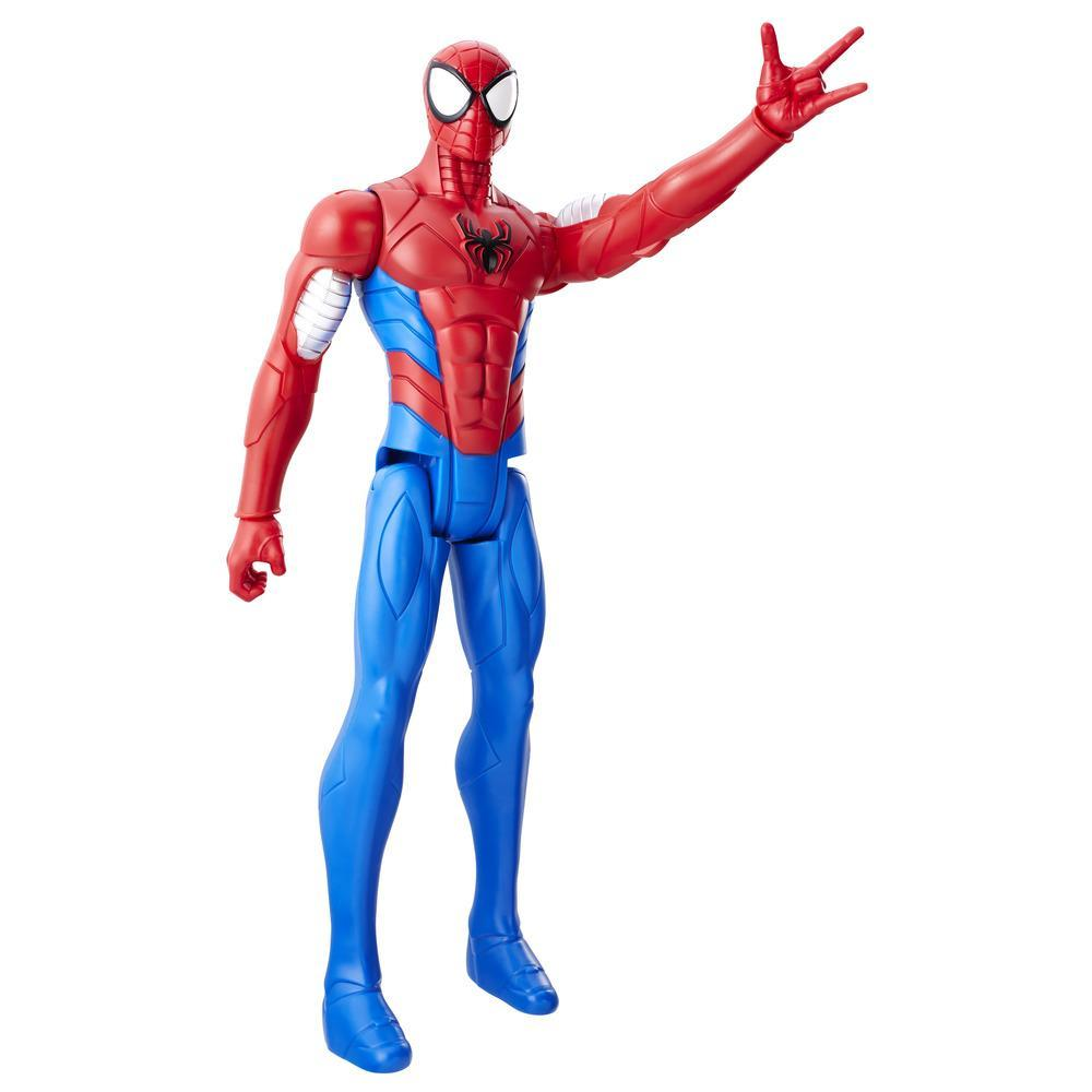 Boneco Spiderman Titan Web Warriors Aranha Blindado