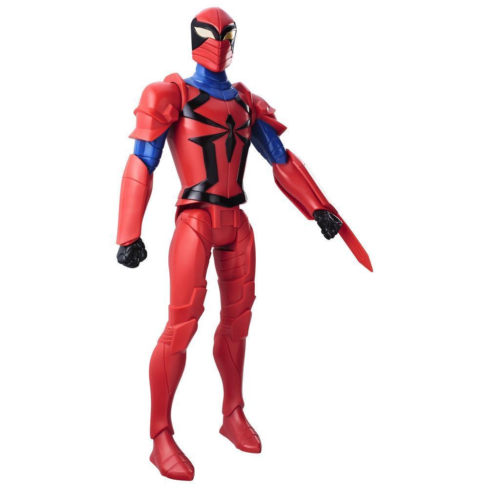 Boneco Spiderman Titan Web Warriors Cavaleiro Aranha