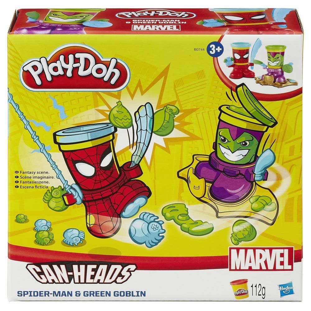 Play-Doh Marvel Can-Heads - Spider-Man e Green Goblin