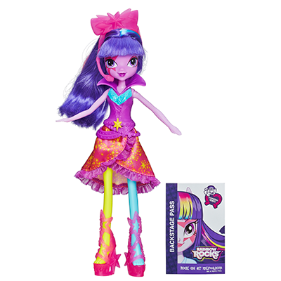 My Little Pony Equestria Girls Neon Rainbow Rocks - Boneca Twilight Sparkle