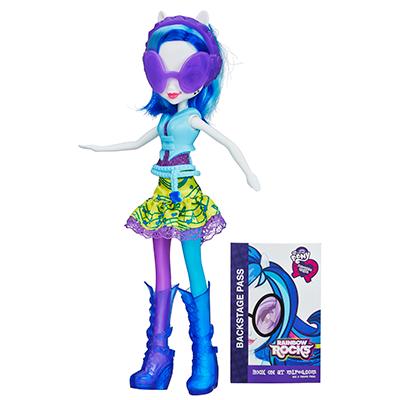 My Little Pony Equestria Girls Neon Rainbow Rocks - Boneca DJ PON-3
