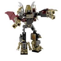 Kit Micro-Changers Combiners Volcanicon - KRE-O - Transformers: A Era da Extinção