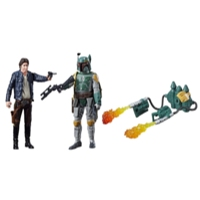 STAR WARS EPISODIO 8 DELUXE FIGURE 2-PACK 9CM HAN SOLO AND E5 BOBA FETT