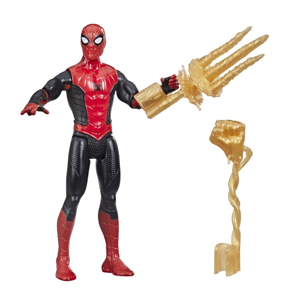 Marvel Spider-Man Mystery Web Gear - Homem-Aranha Traje Upgrade Vermelho e Preto