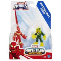PLAYSKOOL HERO ADVENTURES PACK 2 BATALHA IRON SPIDERMAN E ELECTRO