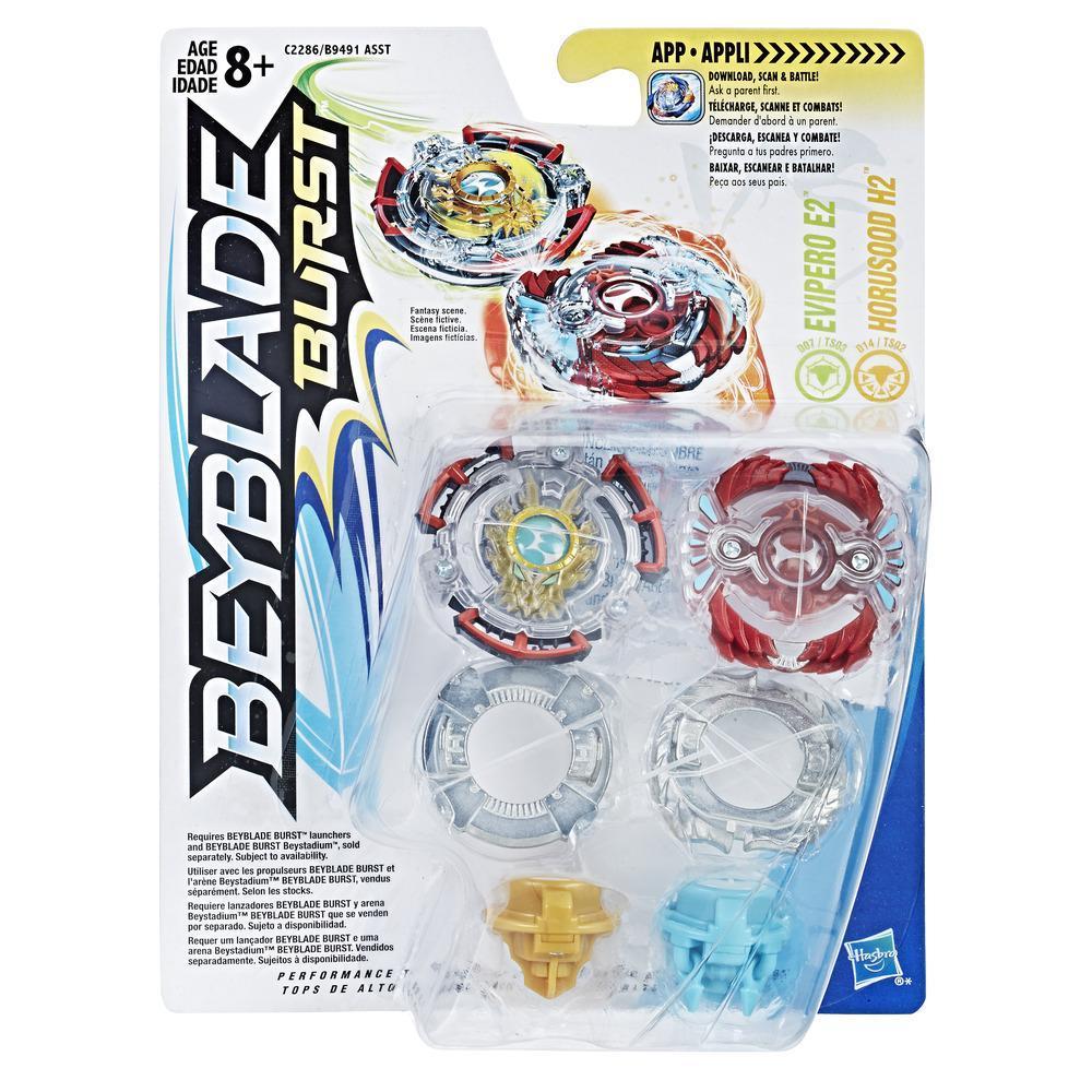 BEYBLADE PACK BATALHA PARA  2 EVIPERO E2 AND HORUSOOD H2