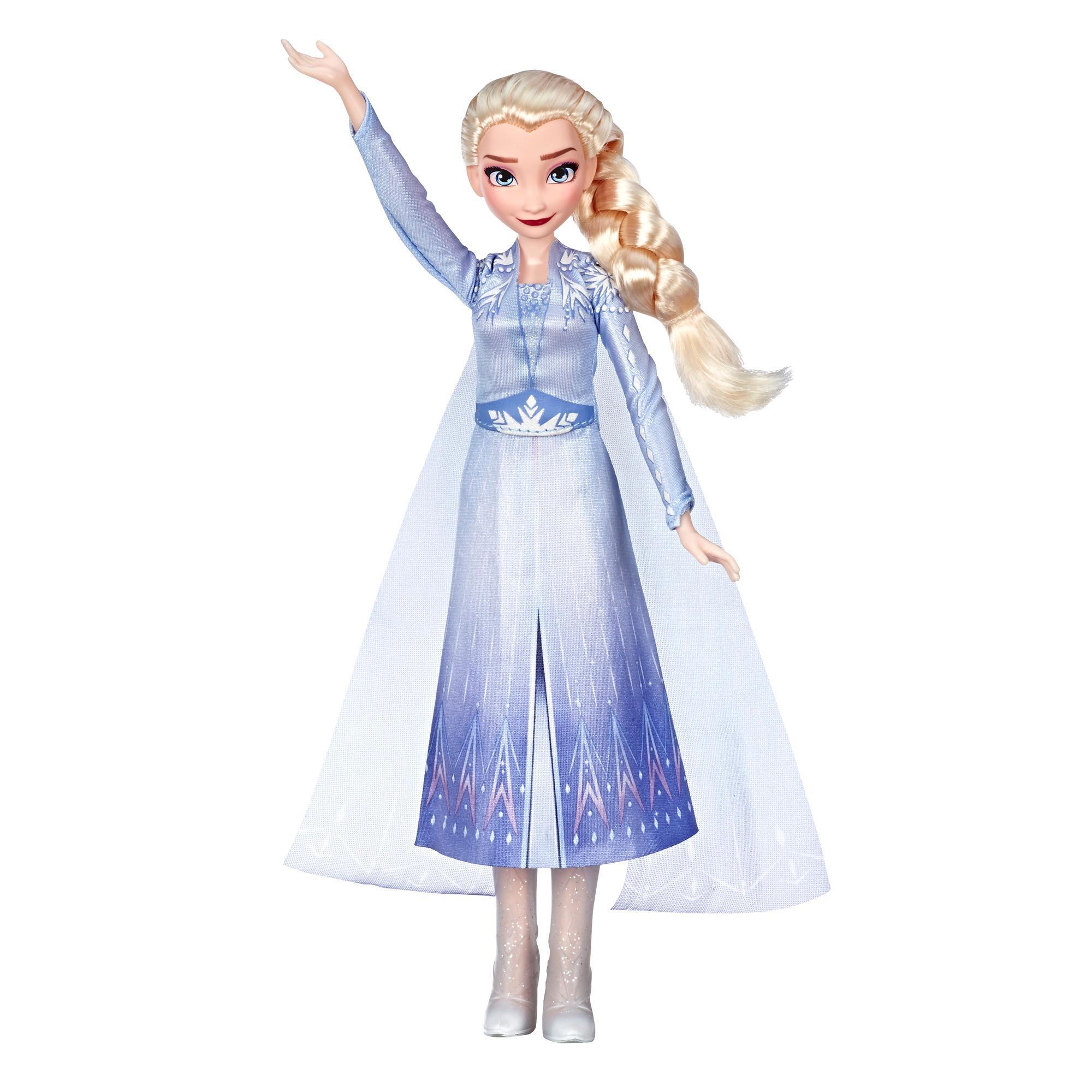 Disney Frozen Singing Elsa — Boneca musical com vestido azul inspirada no filme Frozen 2 da Disney. Idade: a partir dos 3 anos
