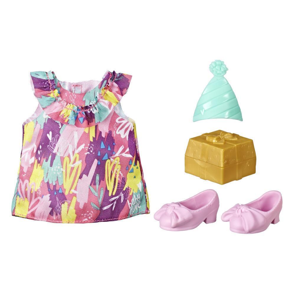 Littles da Baby Alive Pequenas modas - Festa de aniversário. Roupas e acessórios de boneca para crianças acima de 3 anos