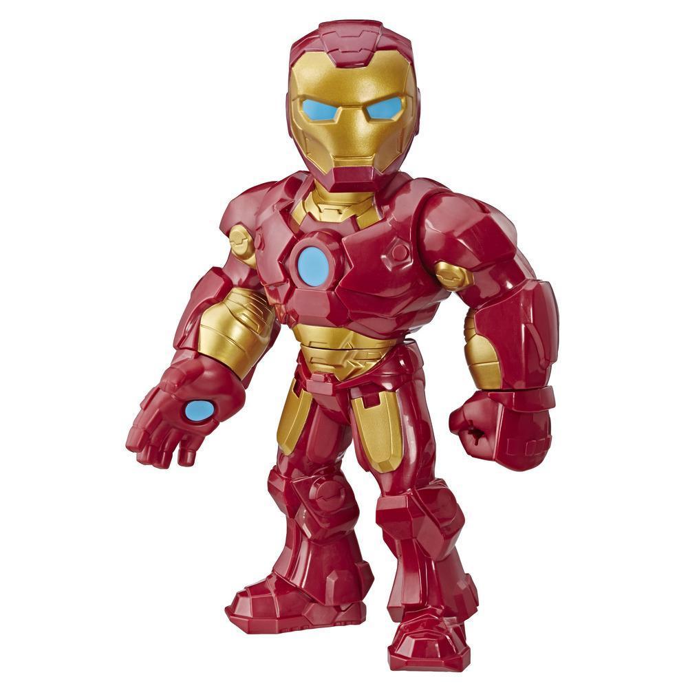 Playskool Heroes Marvel Super Hero Adventures Mega Mighties Homem de Ferro 30 cm Figura, Brinquedos para crianças acima de 3 anos