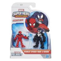PLAYSKOOL HERO ADVENTURES PACK 2 BATALHA SCARLET SPIDERMAN E VENOM