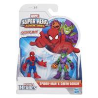 PLAYSKOOL HERO ADVENTURES PACK 2 BATALHA SPIDERMAN E GREEN GOBLIN