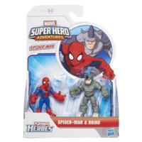 PLAYSKOOL HERO ADVENTURES PACK 2 BATALHA SPIDERMAN E RHINO