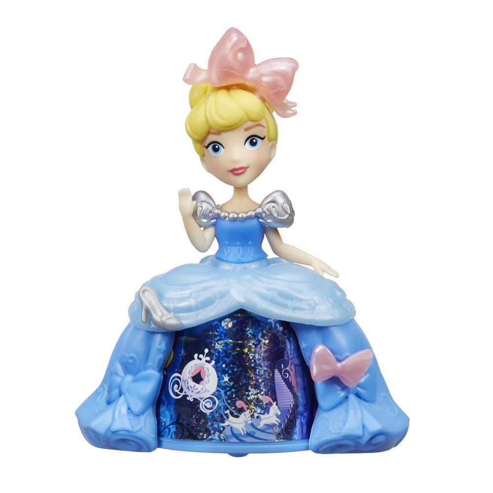 Mini păpușă Cenușăreasa, cu rochie magică,  Disney Princess Little Kingdom