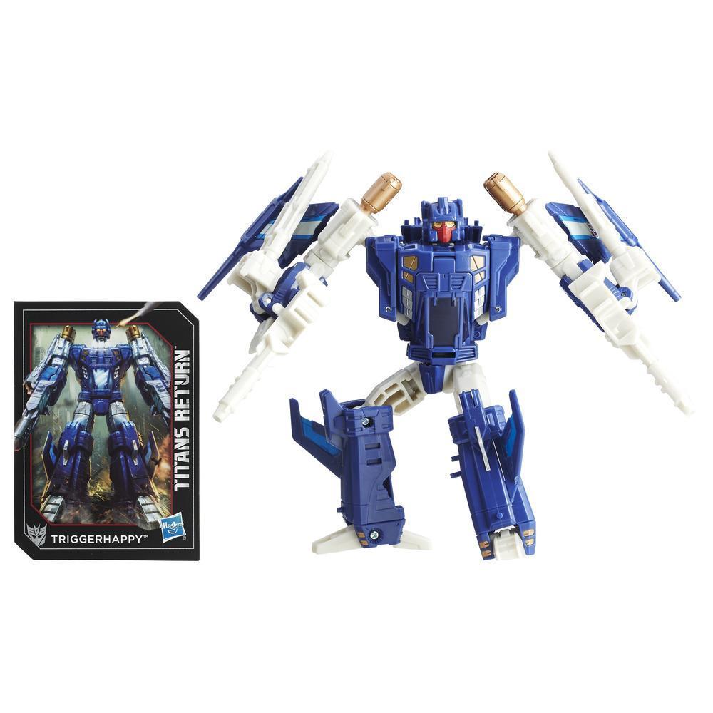 Triggerhappy și Blowpipe din gama Întoarcerea Titanilor, seria Transformers Generations