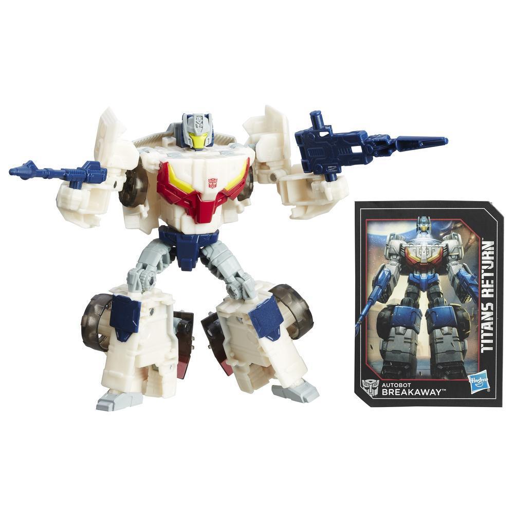 Autobotul Breakaway și Autobotul Throttle din gama Întoarcerea Titanilor, seria Transformers Generations