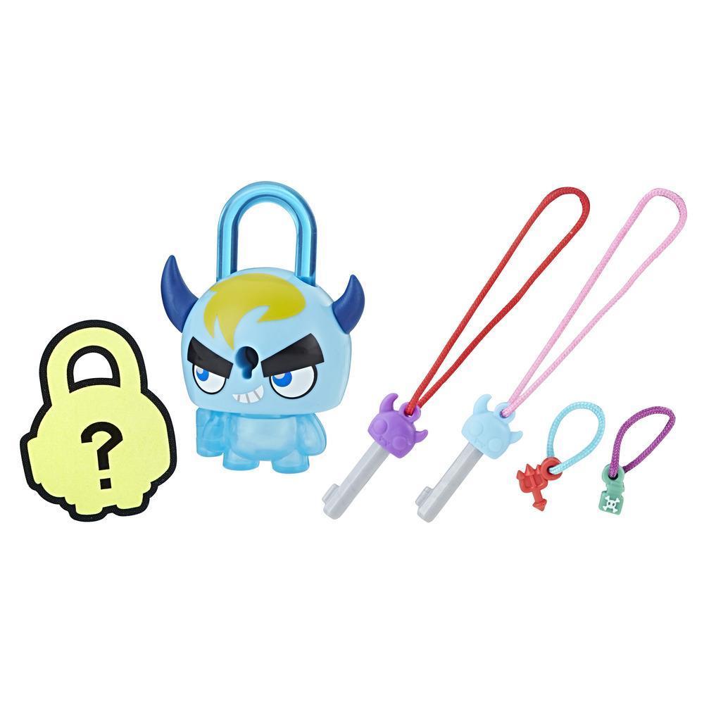 Personaj Lock Stars Monstru Albastru cu Corn - Seria 1 (Gama de produse poate varia)