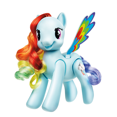 Figurina ponei Flip & Whirl Rainbow Dash My Little Pony