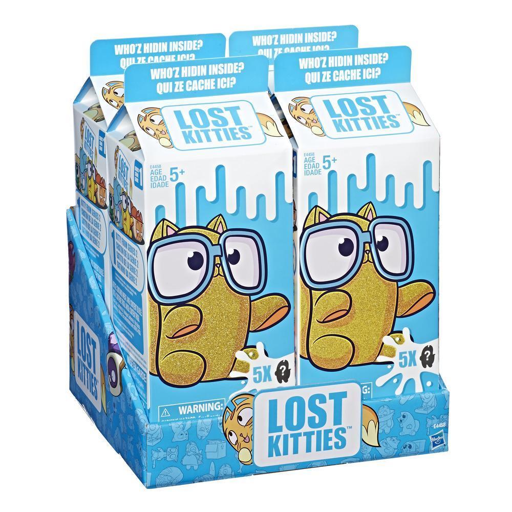 """Cutie de lapte cu 5 figurine """"Lost Kitties"""""""