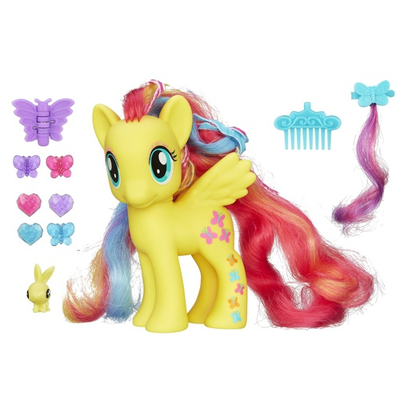 Figurina Fluttershy My Little Pony Cutie Mark Magic Styling Strands Fashion Pony