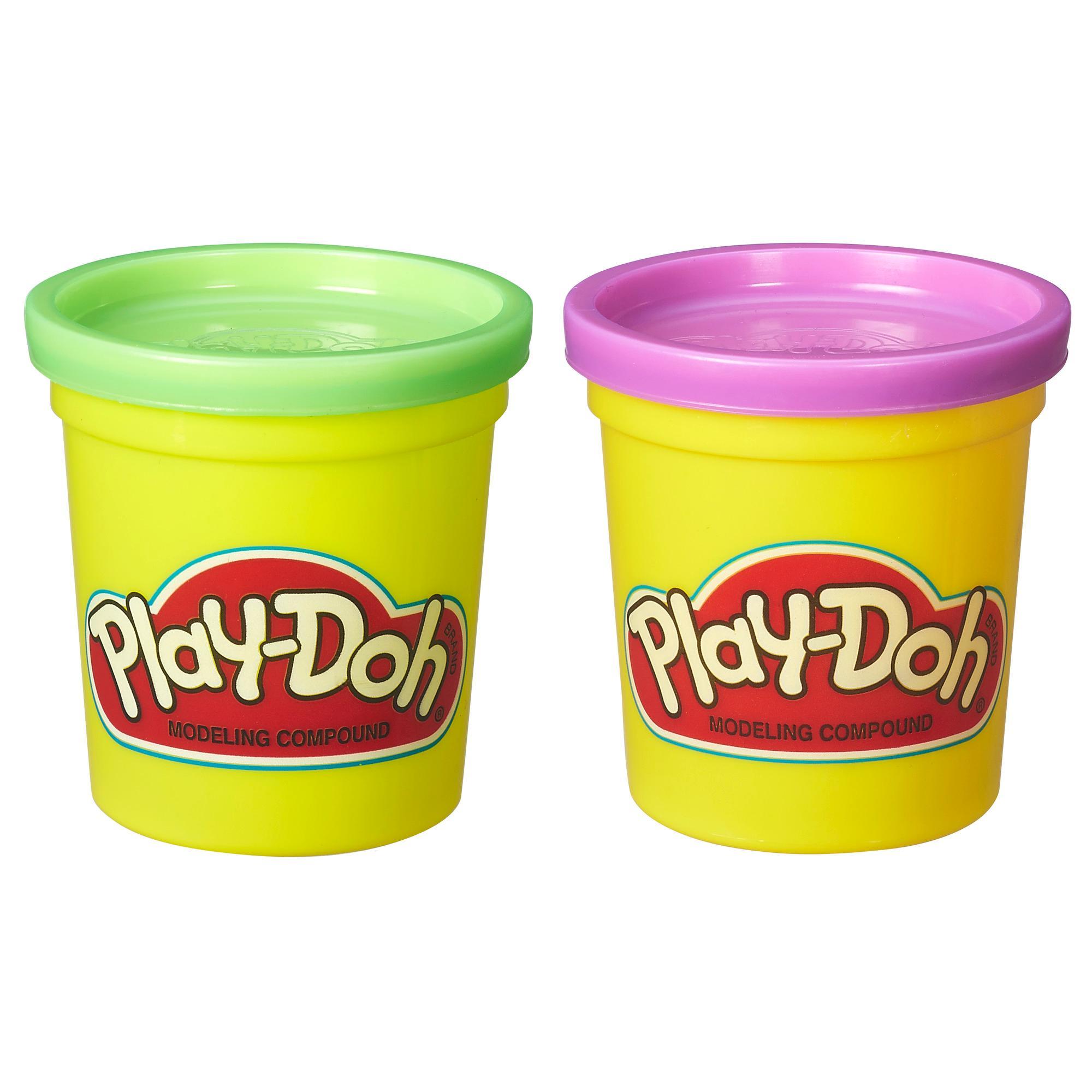 Набор игровой Плей-До 2 баночки фиолетовый и зеленый PLAY-DOH B8521