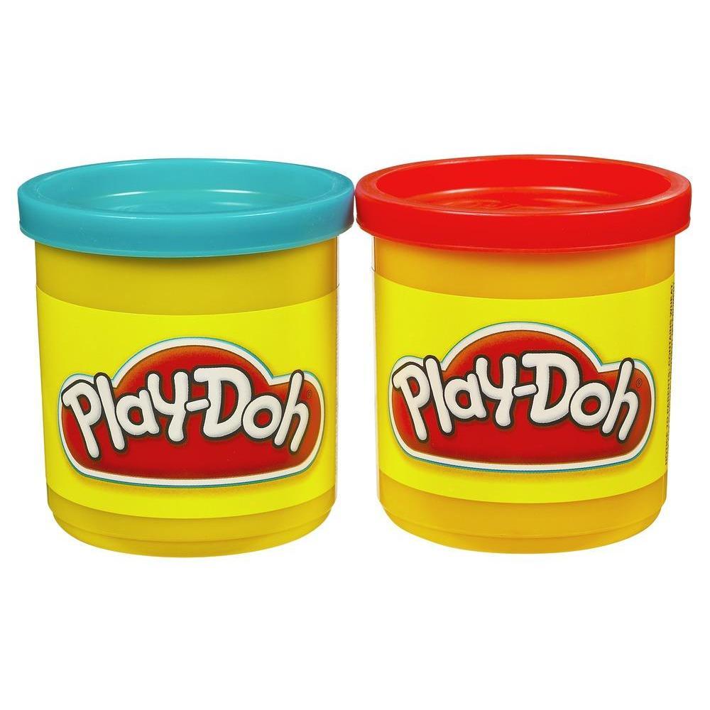 Набор игровой Плей-До 2 баночки синий и красный PLAY-DOH 23656