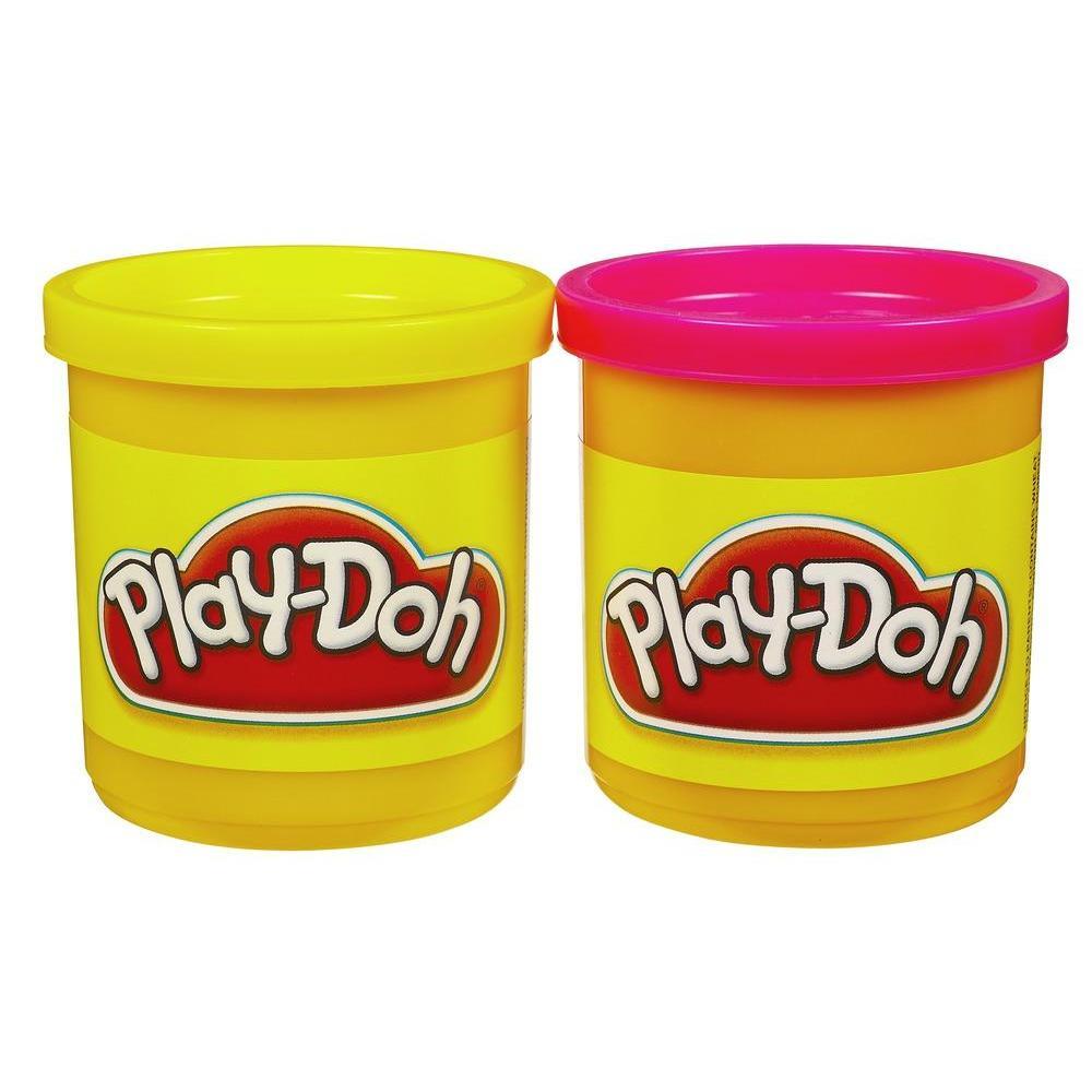 Набор игровой Плей-До 2 баночки желтый и красный PLAY-DOH 23658