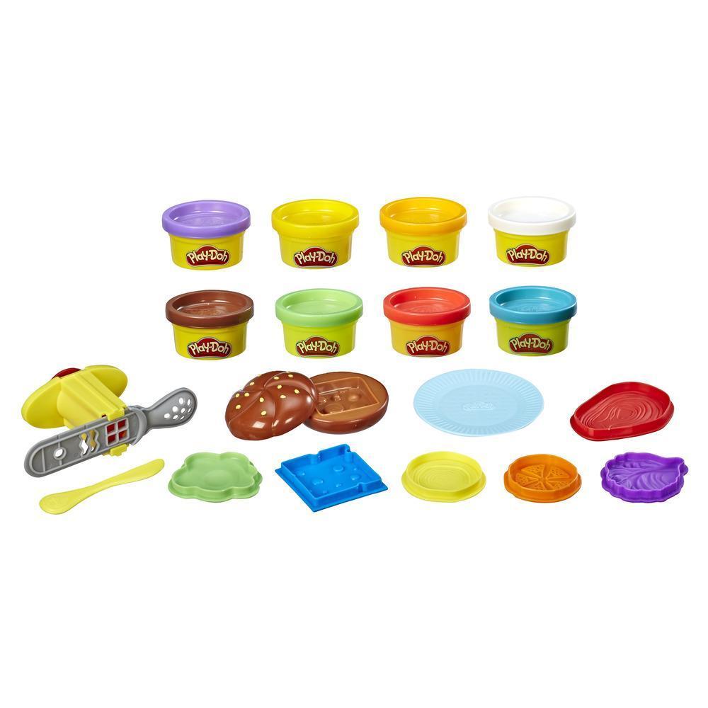 Набор Плей-До Забавные закуски Бургер и картофель фри PLAY-DOH E5472