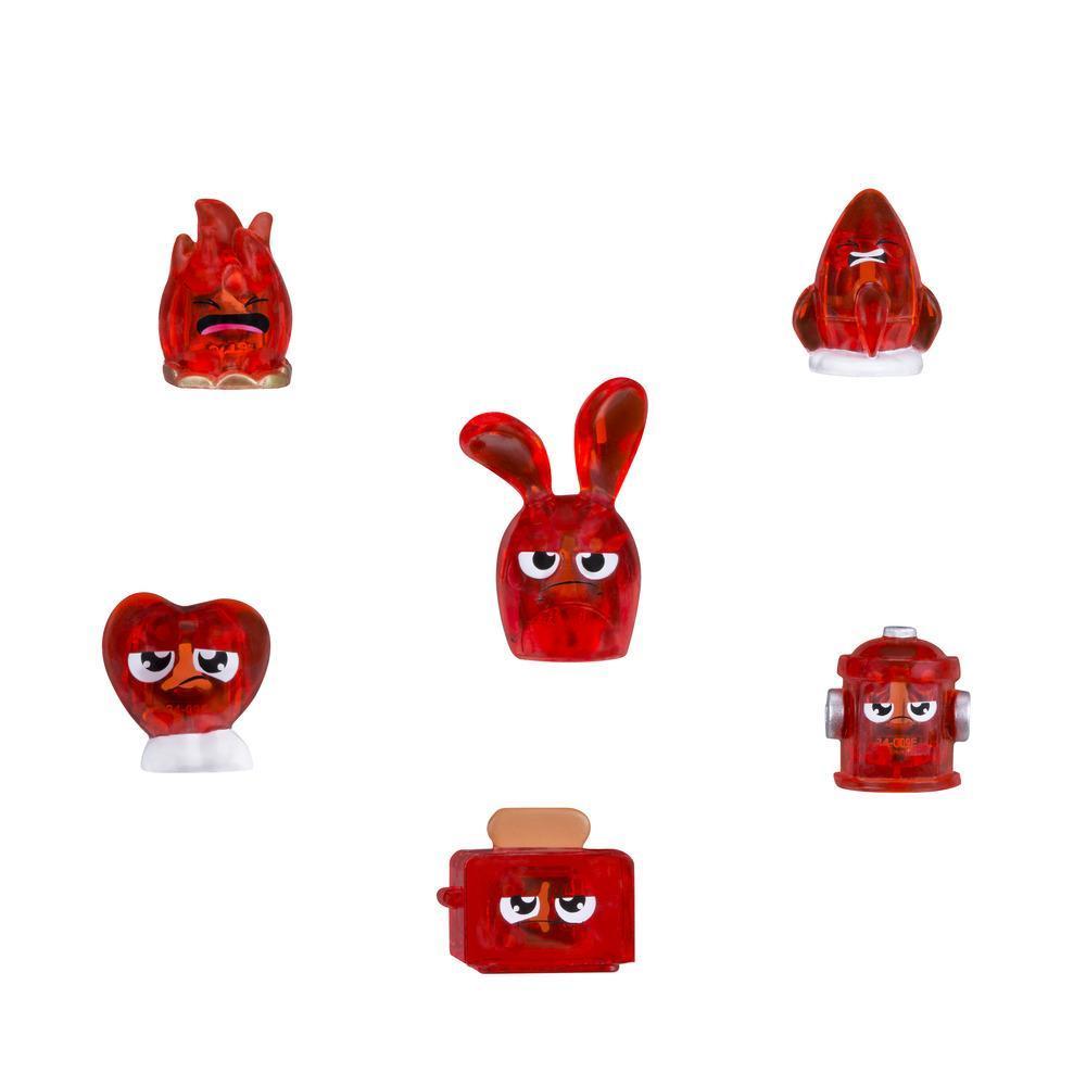 Набор из 6 фигурок-сокровищ  красного цвета HANAZUKI (B8444)
