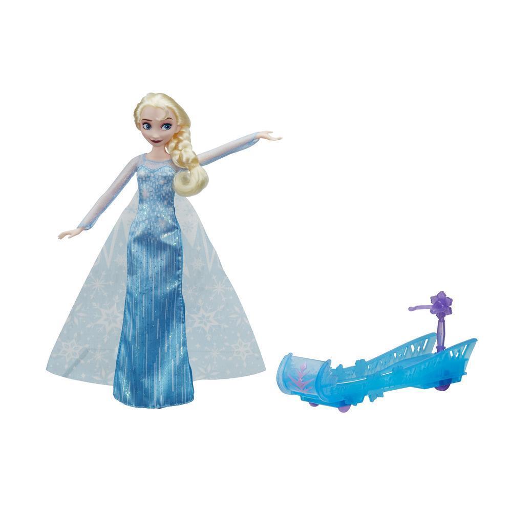 Модная кукла Эльза и ледяные санки