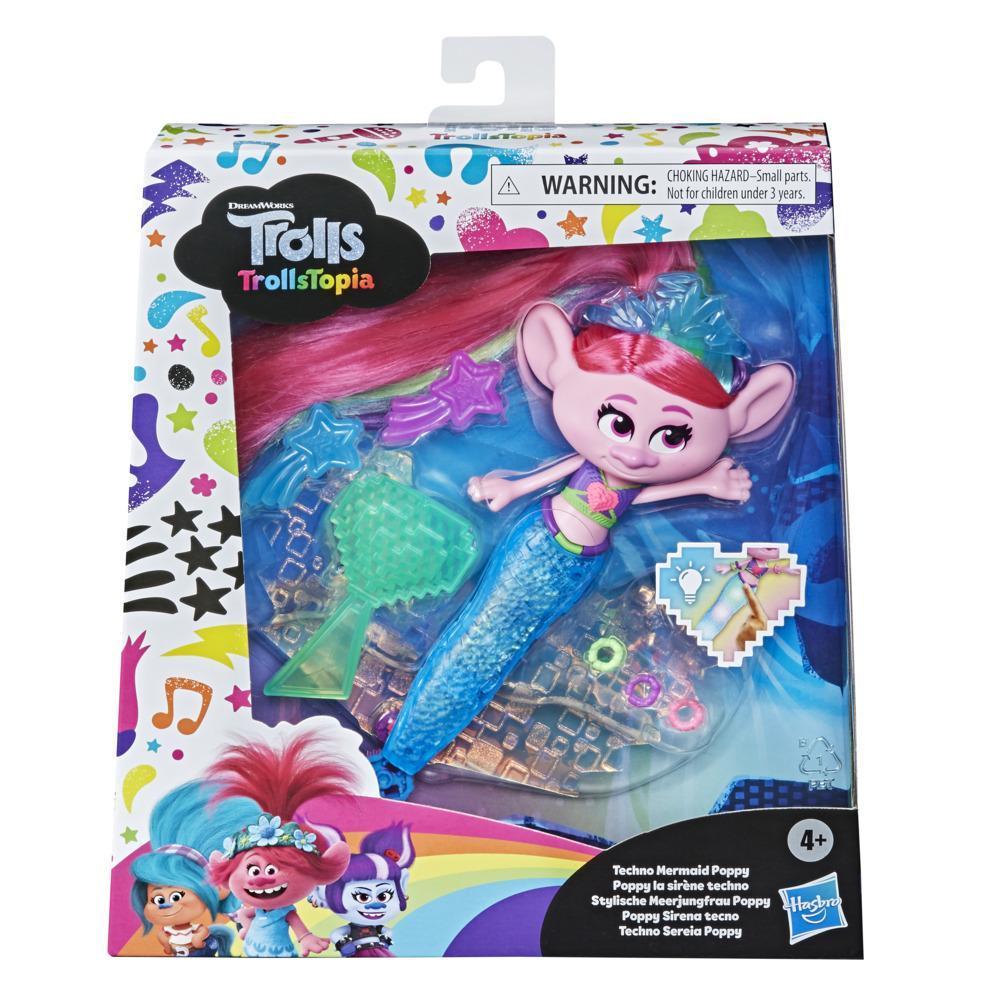 Кукла Тролли Техно-русалка Розочка TROLLS F0307