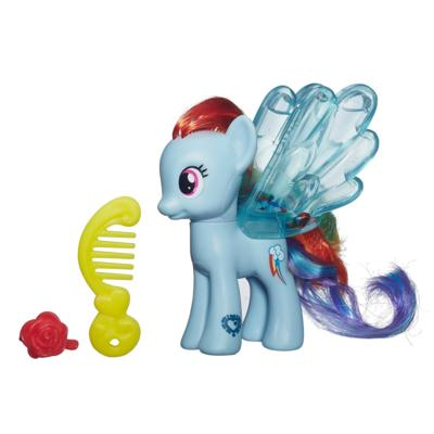 Мой маленький пони: Магия знаков отличия. Водяные пони с блёстками. Фигурка Радуги Дэш