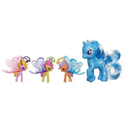 Мой маленький пони: Магия знаков отличия. Фигурки Трикси Луламун и фей дружбы.