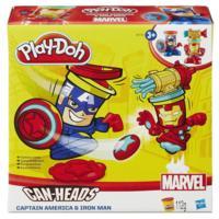 Play-Doh Герои Марвел: Железный Человек и Капитан Америка в упаковке