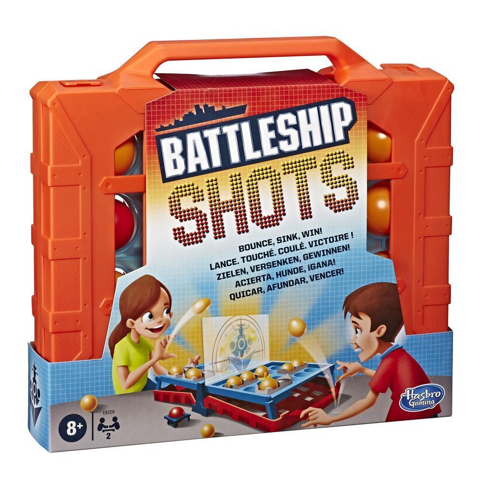Battleship Shots strategispel, bollstudsspel från 8 år