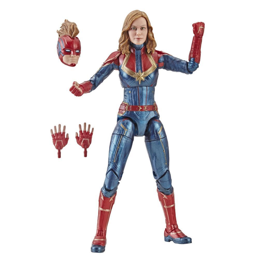Marvel Captain Marvel 6-inch Legends Captain Marvel in Costume Figure for Collectors, Kids, and Fans