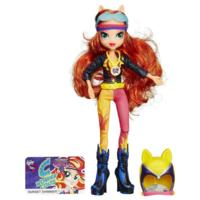My Little Pony Equestria flickor Sunset Shimmer Sportig stil Motocross Doll