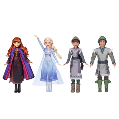 Disney's Frozen 2 Forest Expedition Set, 4 Fashion Dolls with Anna and Elsa, Ryder and Honeymaren, For Kids 3 and Up