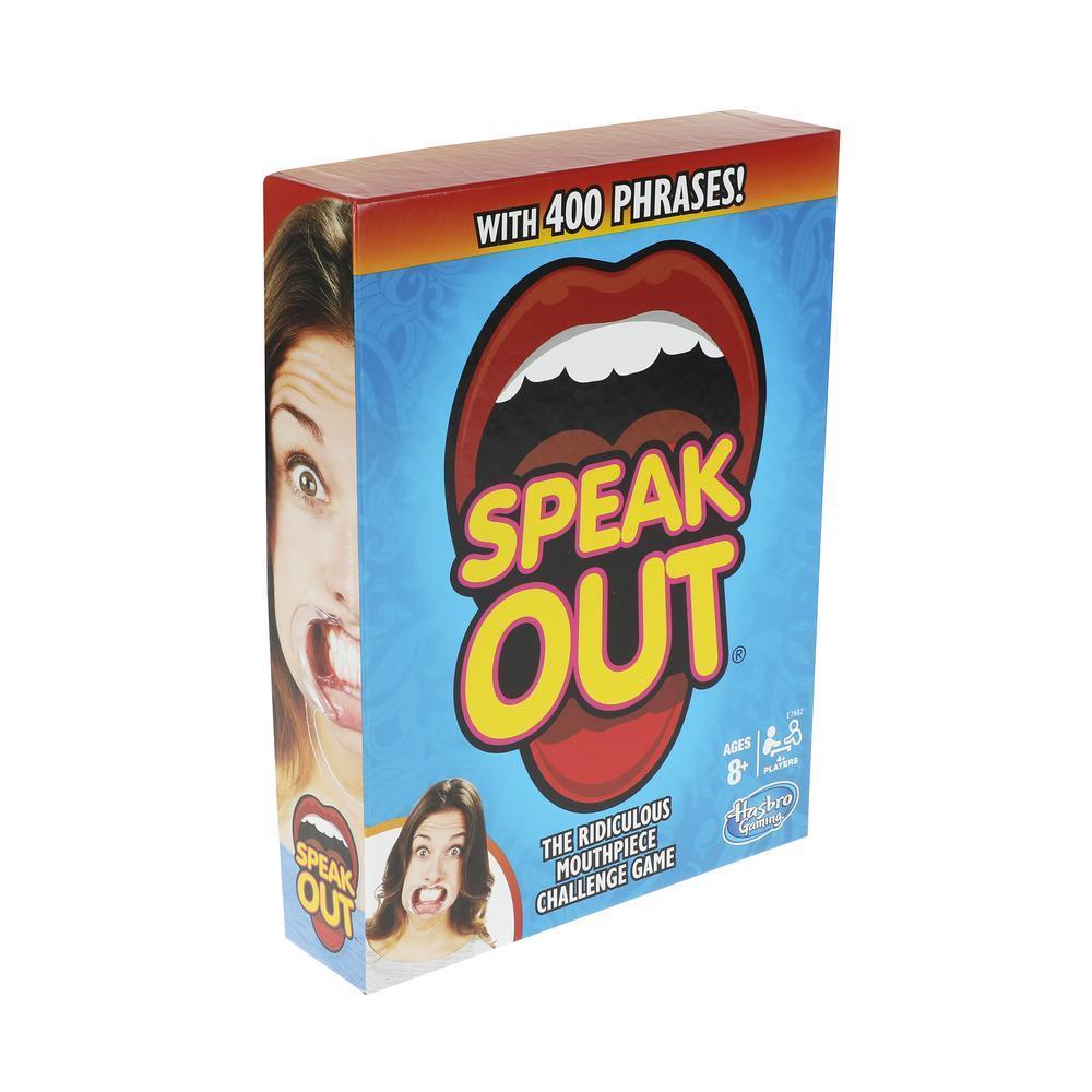 Speak Out sällskapsspel med munstycke för vänner, familj och barn från 8 år