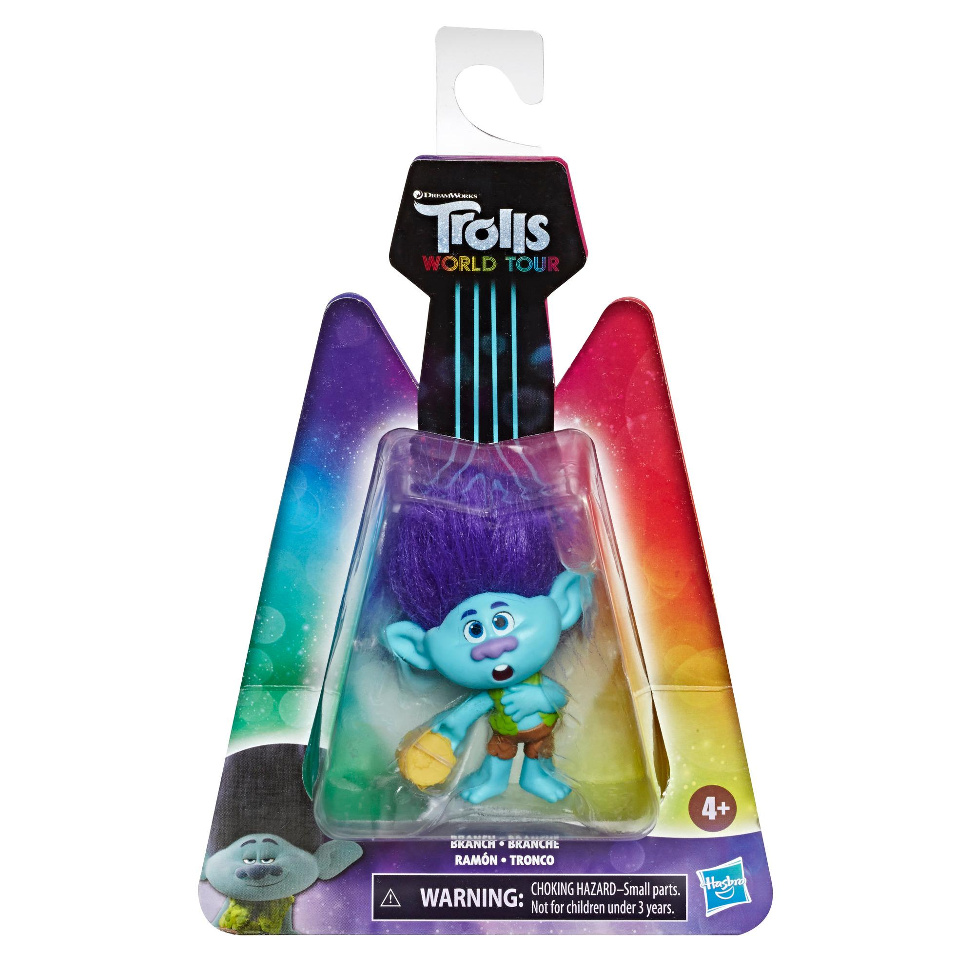 DreamWorks Trolls World Tour Branch, Doll Figure with Tambourine Accessory, Toy Inspired by the Movie Trolls World Tour