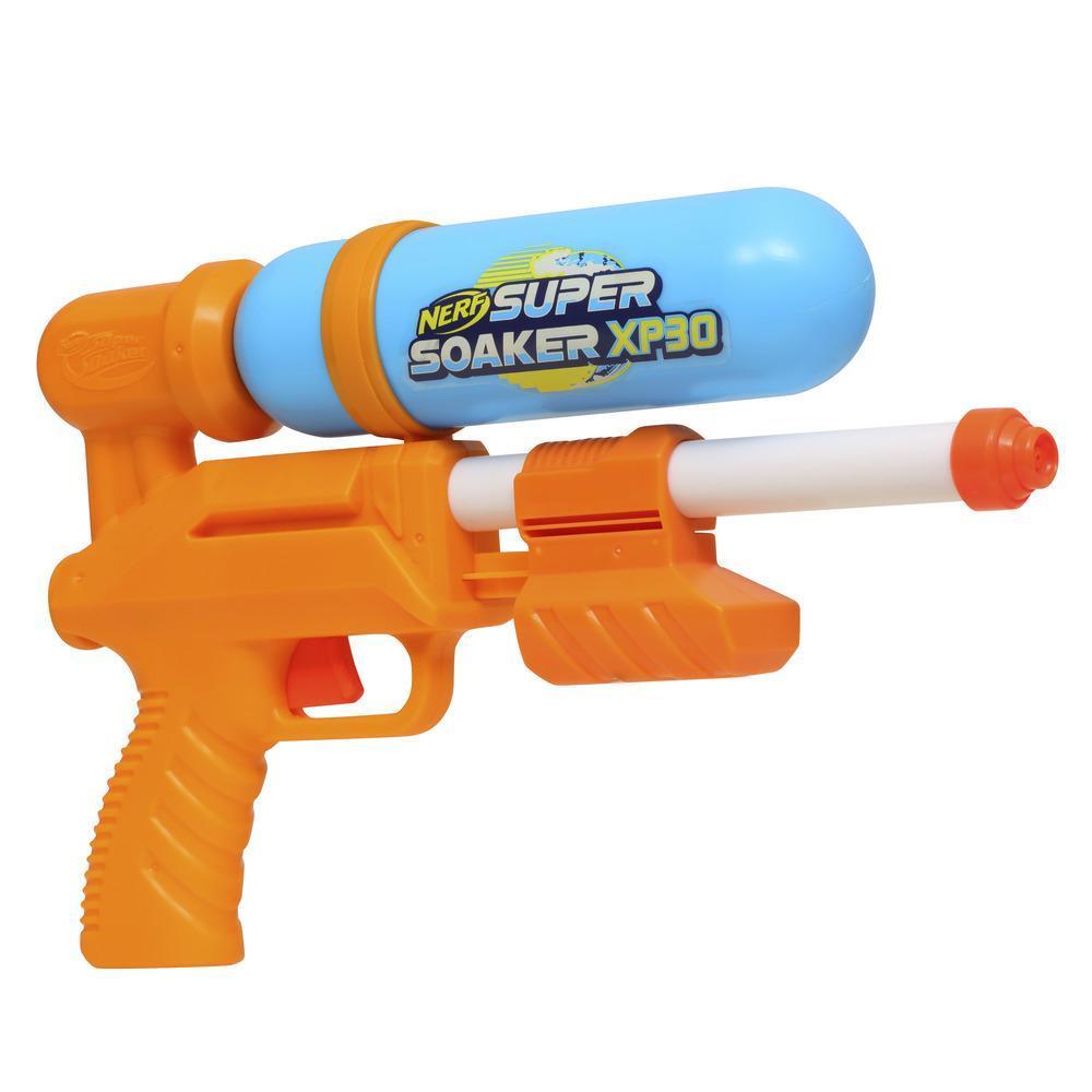 Nerf Super Soaker XP30 Water Blaster – Tryckluftsaktiverat oavbrutet vattenflöde – Avtagbar tank – För barn, tonåringar och vuxna