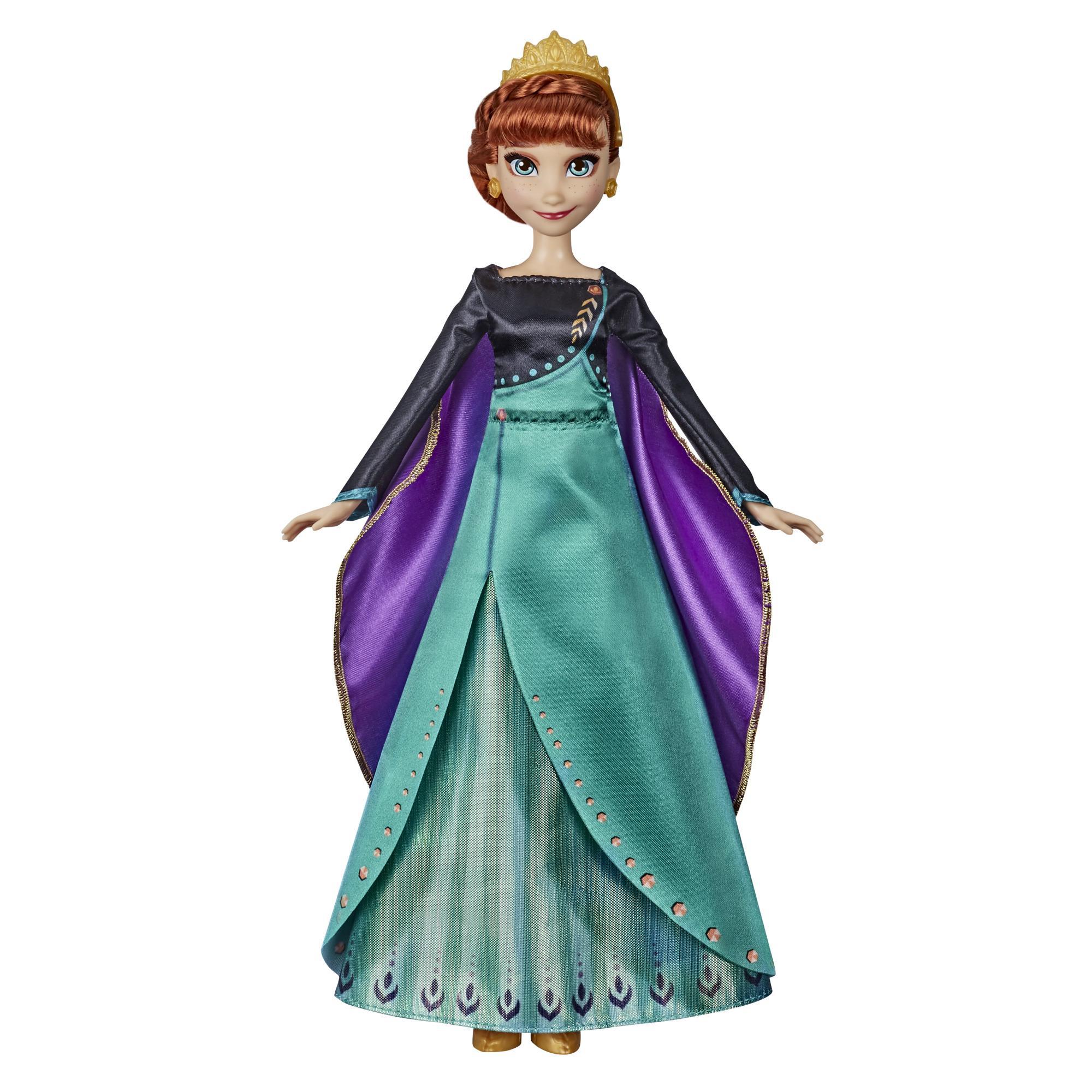 "Disney Frozen Musical Adventure Anna sjungande docka, sjunger sången ""Some Things Never Change"" från Disney-filmen Frost 2"