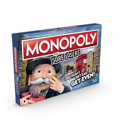 Monopoly For Sore Losers brädspel från 8 år