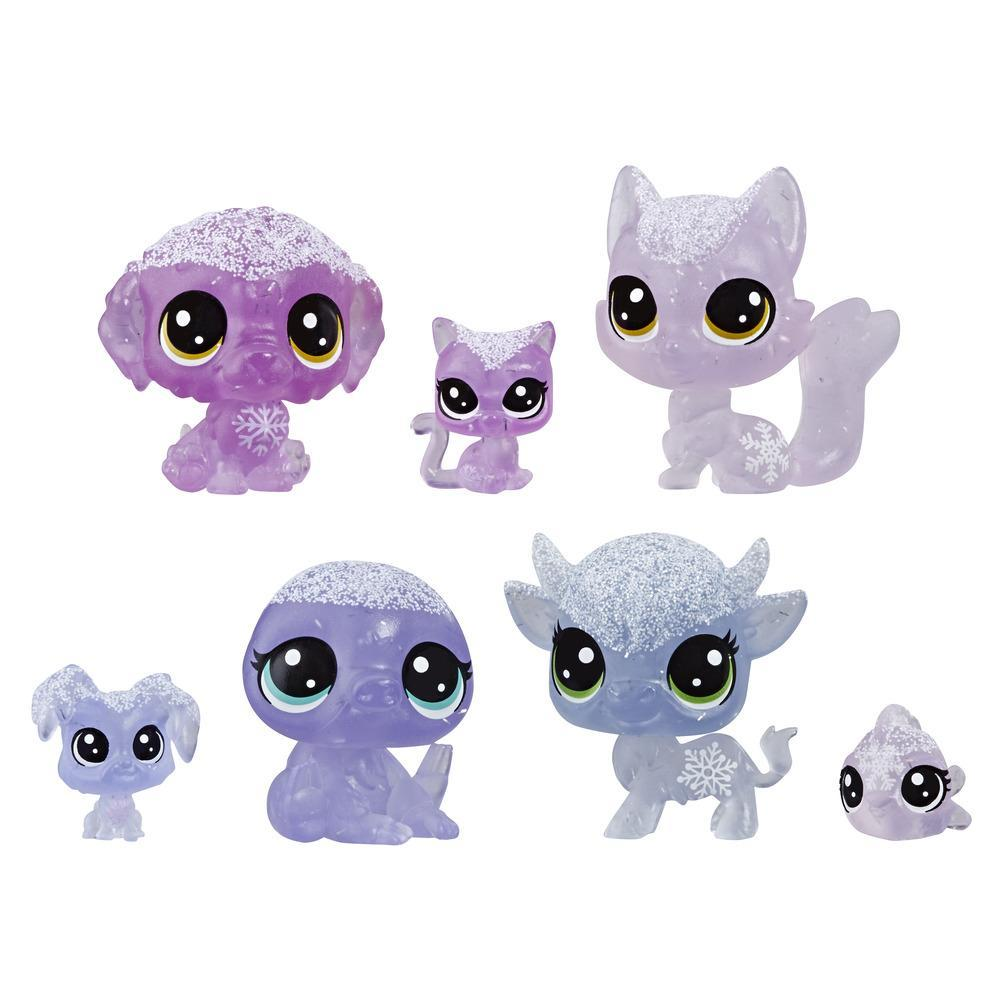 Littlest Pet Shop Frosted Wonderland Pet Friends Toy, Purple Theme