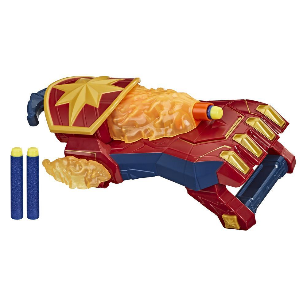 NERF Power Moves Marvel Avengers Captain Marvel Photon Blast Gauntlet NERF – pilskjutarleksak för barn från 5 år