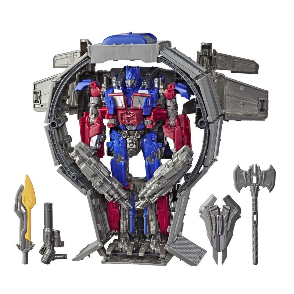 Transformers Toys Studio Series 44 Leader Class Transformers: Dark of the Moon movie Optimus Prime Action Figure