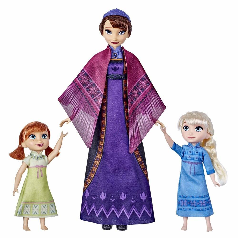 Disney's Frozen 2 Queen Iduna Lullaby Set med Elsa- och Anna-dockor, sjungande drottning Iduna, leksak som inspirerats av Disneys Frost 2