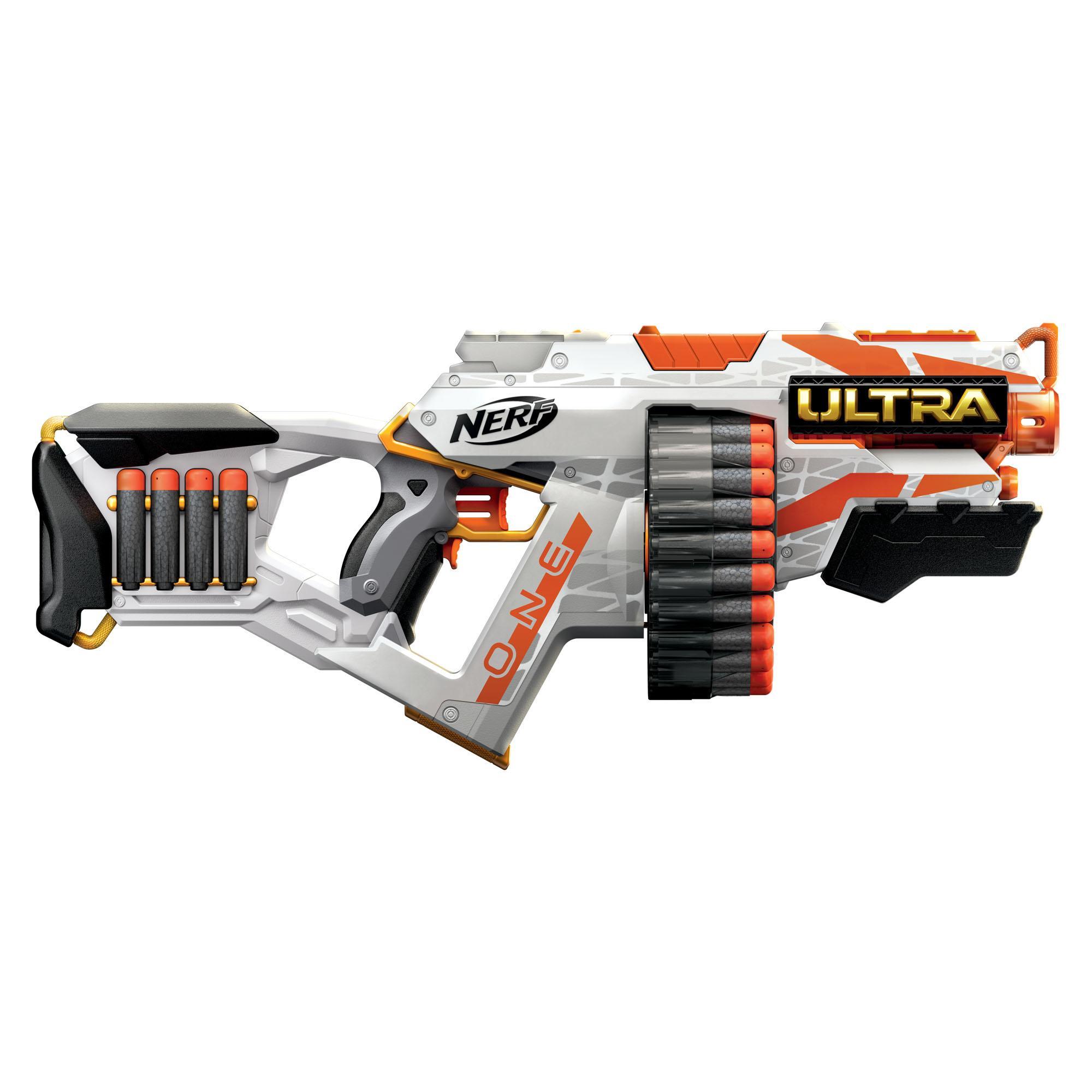 Nerf Ultra One motoriserad blaster, 25 Nerf Ultra-pilar – Fungerar endast med Nerf Ultra One-pilar