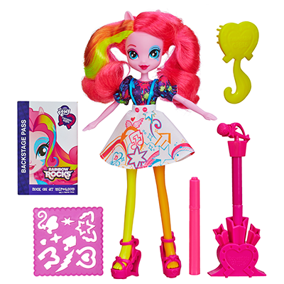 My Little Pony Equestria Girls Stamp Pad Guitar och Stamper Shoes Pinkie Pie-docka